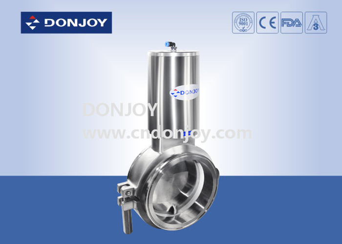 Sanitary level 2 inch powder butterfly valves with stainless steel actuator