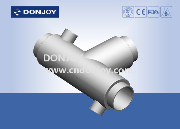 Jacketed Insulation Welding Tee Stainless Steel Sanitary Fittings Insulation Welded Pipe
