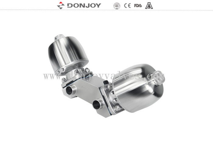 Stainless Steel Actuator Welding Multiport  Pneumatic Sanitary Diaphragm Valve