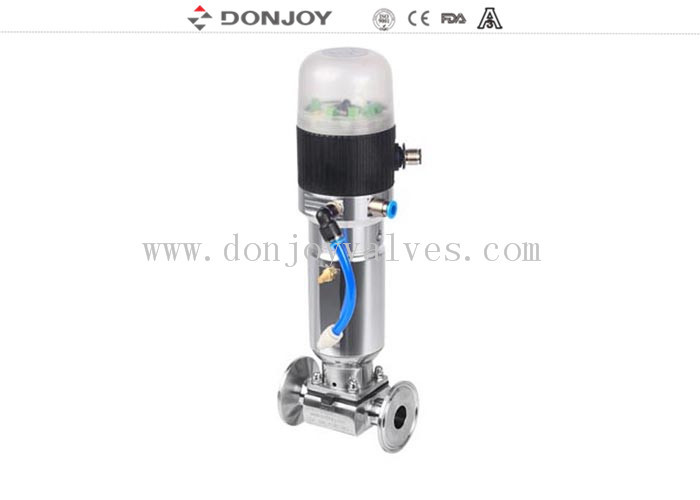 Mini Direct way Clamp Sanitary Pneumatic Diaphragm Valve with Control Unit