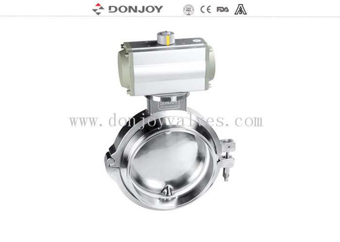 3 Pecies Flange Butterfly Valves Stainless Steel Sanitary Aluminum Acutor