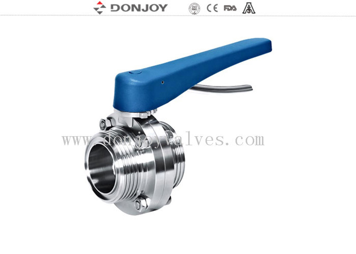 Food grade stainless steel threaded sanitary butterfly valve From 1inch to 6inch