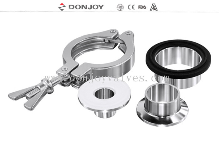 DN10-DN200 Stainless Steel Sanitary Fittings Sterile clamp union