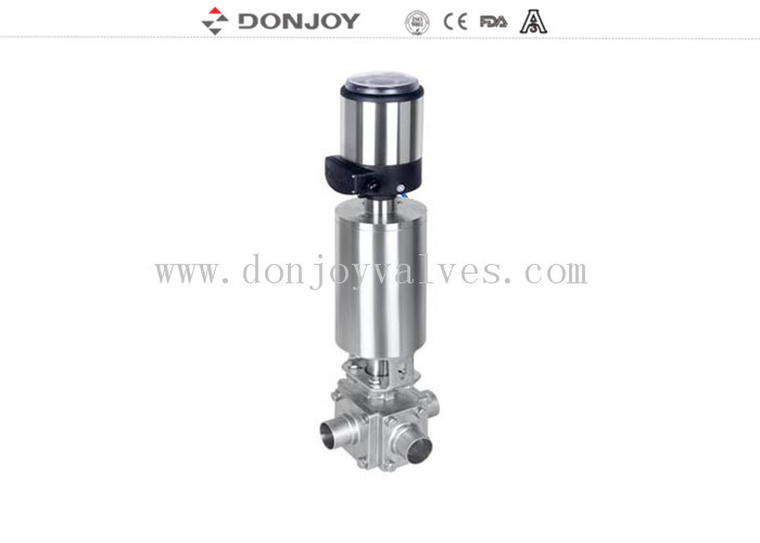 Pneumatic Ball Valve , Regulating Valve With Controller / Signal Indicator
