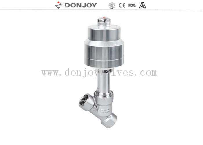 Professional 1 Inch Pneumatic Angle Seat Valve , Stainless Steel Angle Valve
