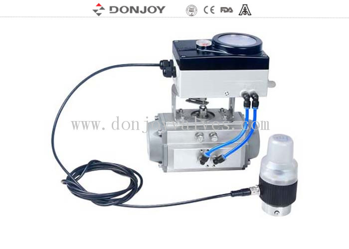 DC 24V Power intelligent valve positioner Square model Feature for 1 Inch Ball Valve