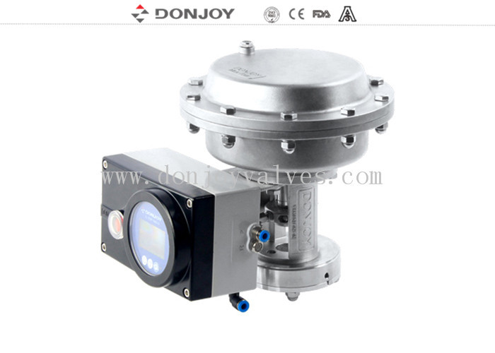 Stainless Steel High pressure actuator With intelligent valve Positioner Operation